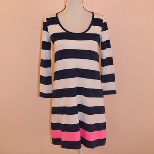 Lilly Pulitzers navy blu white Striped shift dress